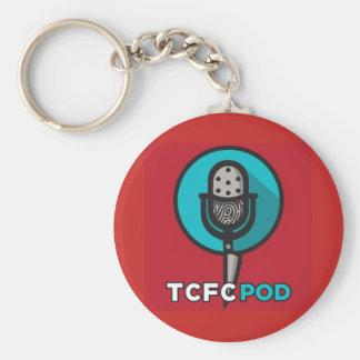 Véritable porte - clé de logo de club de fan de porte-clé rond
