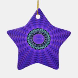 Vérités assez pourpres de la vie de rayonnement ornement étoile en céramique