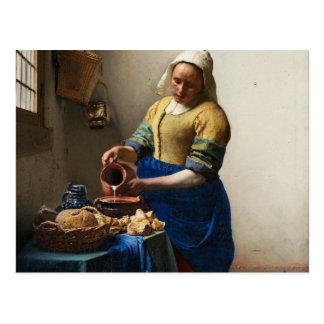 Vermeer la carte postale de trayeuse