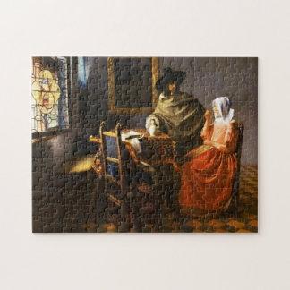 Vermeer le verre du puzzle de vin