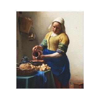 Vermeer l'enveloppe de toile de trayeuse toiles