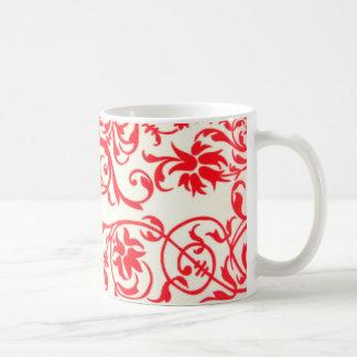 vermelho de tonnes de COM d'abstrato Mug Blanc