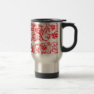 vermelho de tonnes de COM d'abstrato Mug De Voyage En Acier Inoxydable