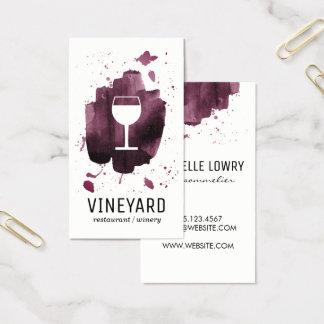 Verre balayé expressif de texture/vin cartes de visite