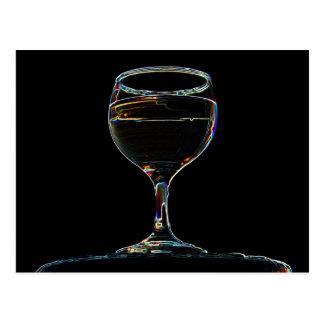 Verre de carte postale de vin