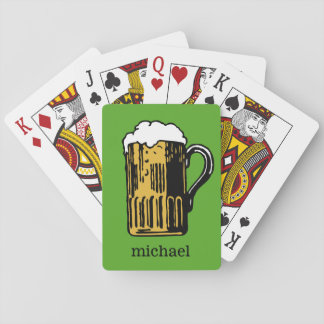 Verre de cartes de jeu faites sur commande de nom cartes à jouer