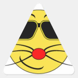verre de cat_black sticker triangulaire