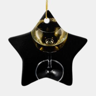 verre de champagne ornement étoile en céramique