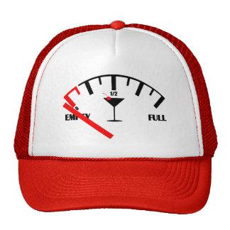 Verre de cocktail drôle de boissons de jauge de casquette de camionneur
