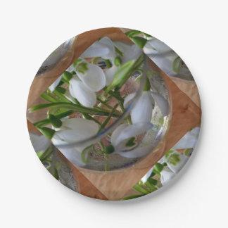 verre de perce-neiges assiettes en papier