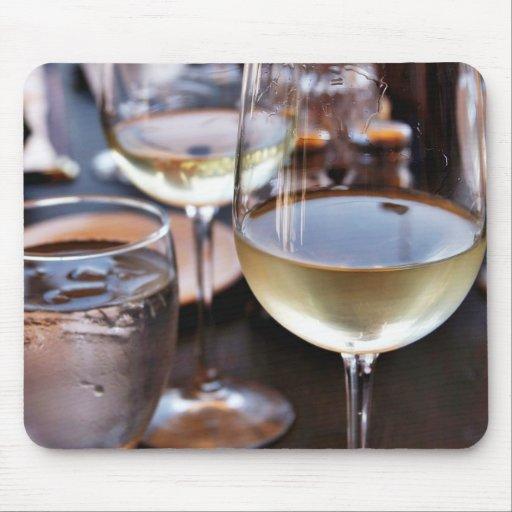 Verre de vin blanc tapis de souris