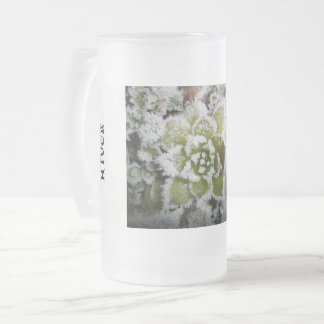 verre dépoli tasse hiver nature plante givre