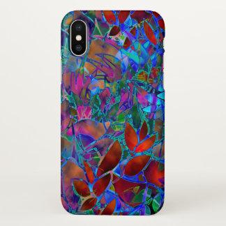 verre souillé d'abrégé sur floral cas de l'iPhone Coque iPhone X