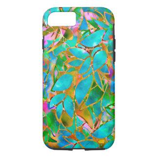 verre souillé d'abrégé sur floral dur cas de coque iPhone 7