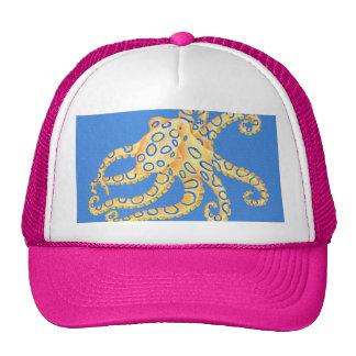 Verre souillé de poulpe bleu casquette trucker
