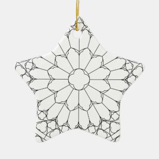 Verre souillé de roses ornement étoile en céramique
