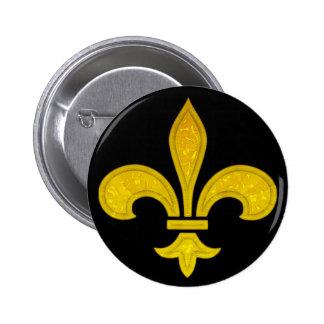 Verre taillé de Fleur De Lis Badges