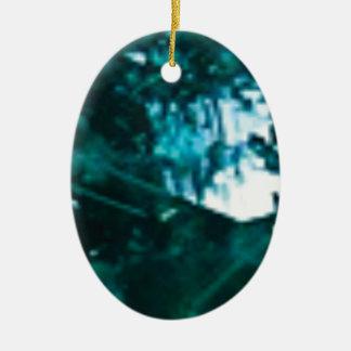 verre vert brisé ornement ovale en céramique