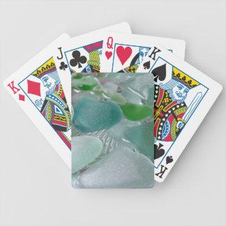 Verre vert de mer verte de vibrations cartes à jouer