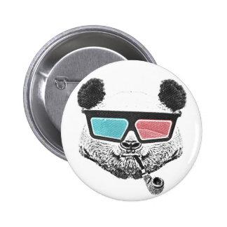Verres à trois dimensions de panda vintage badge