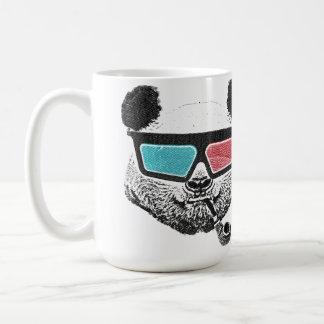 Verres à trois dimensions de panda vintage mug