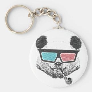 Verres à trois dimensions de panda vintage porte-clefs