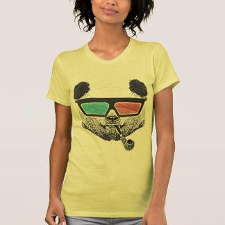Verres à trois dimensions de panda vintage t-shirts