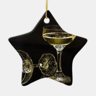 verres de champagne ornement étoile en céramique