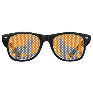 Verres de loup d'hurlement lunettes de fête retro