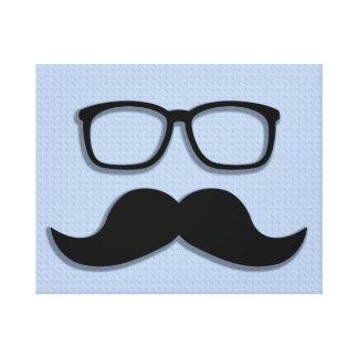 Verres de moustache de hippie de geek toiles tendues