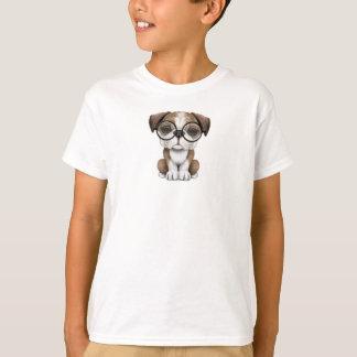 Verres de port de chiot anglais mignon de t-shirt