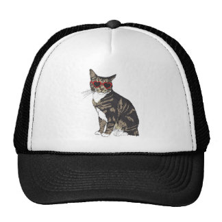 Verres de port de coeur de chat casquettes