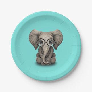 Verres de port d'éléphant ringard de bébé assiettes en papier