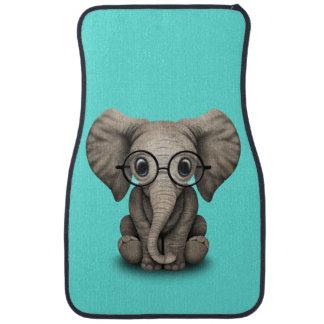 Verres de port d'éléphant ringard de bébé tapis de sol