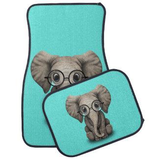 Verres de port d'éléphant ringard de bébé tapis de voiture