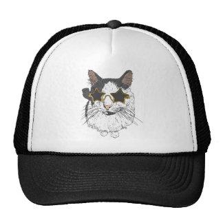Verres de port d'étoile de chat casquettes
