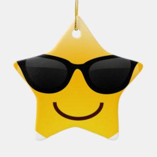 Verres Emoji Ornement Étoile En Céramique