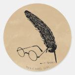 Verres et cannette de ™ de HARRY POTTER Sticker Rond