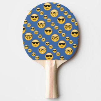 Verres modelés Emojis de bleu Raquette Tennis De Table
