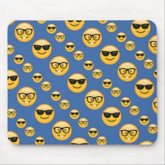 Verres modelés Emojis de bleu Tapis De Souris