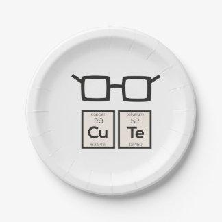 Verres nerd mignons Zwp34 d'élément chimique Assiettes En Papier