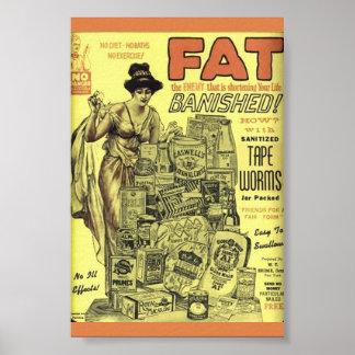 VERS de BANDE ASEPTISÉS par annonce vintage de Poster