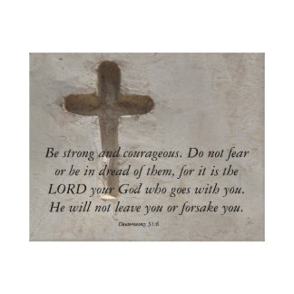 Vers de bible de 31:6 de Deuteronomy au sujet du Toiles