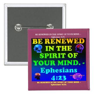 Vers de bible de 4h23 d'Ephesians. Badge