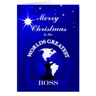 Vers de coutume de Noël des mondes de patron le Carte De Vœux