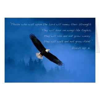 Vers inspiré Isaïe de bible Carte De Vœux
