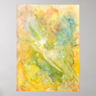 Vers l'aquarelle Humide-sur-Humide abstraite légèr Poster