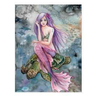 Vers le bas en Atlantide - carte postale de sirène