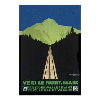 Vers Le Mont Blanc Affiche