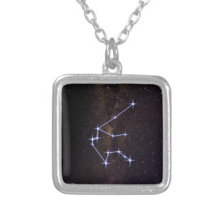 Verseau de signe d'étoile pendentif carré